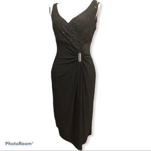 Lauren Ralph Lauren | Black Lace Faux Wrap dress